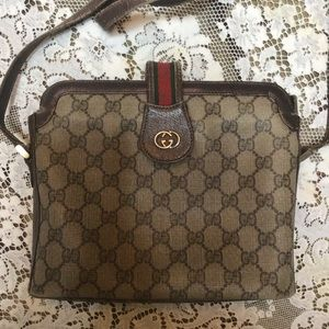 Authentic Vintage Gucci Crossbody Bag Logo GG